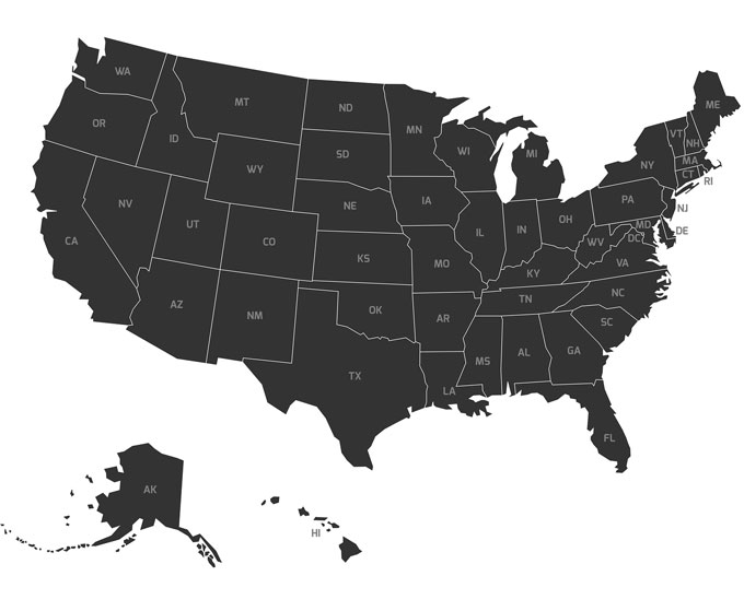 The National List Of Attorneys Retail Collections - Us attorney map